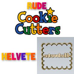 WhatsApp-Image-2021-08-17-at-10.11.44-PM.jpeg Télécharger le fichier STL AMAZING helvete Rude Word COOKIE CUTTER STAMP CAKE DECORATING • Objet imprimable en 3D, Micce
