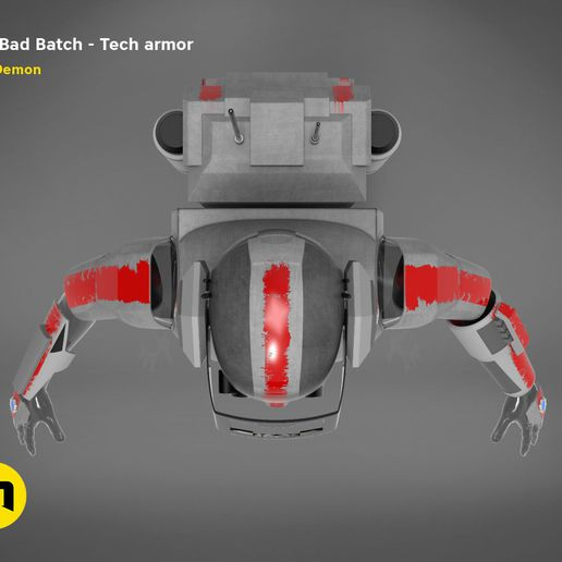 render_Bad_Batch_Tech-color.220.jpg Télécharger fichier OBJ L'armure de Bad Batch Tech • Design pour imprimante 3D, 3D-mon