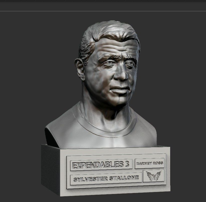 04.jpg Download STL file SYLVESTER STALLONE • 3D printer template, thierry3D