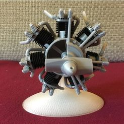 a7abbd6f6ff3194cfabf2e57cdea3024_preview_featured.jpg Download free STL file Radial engine printable • Model to 3D print, maiersbus