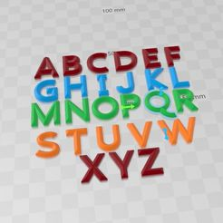 Letras imprimibles.jpg Download STL file printable letters • 3D printing template, STUDYPROJECTS3D