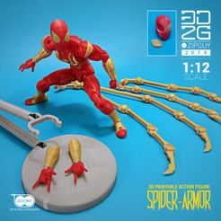ZIP GUYS FIGURE-04.jpg Download STL file SPIDER ARMOR UPGRADE PACK • 3D printable model, 3dzipguy