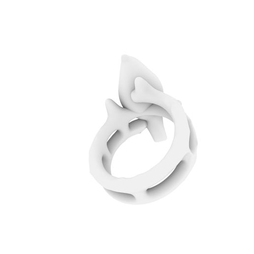 Bird on a brench2.jpg Download STL file Bird on a branch ring • 3D printable template, josephkey