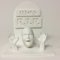 Capture d'écran 2017-09-21 à 12.52.37.png Download free STL file Walking Dead Tombstone With Zombie Hands • 3D printable object, 3DLirious