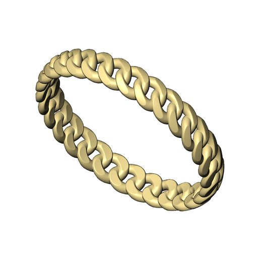 Thin-3mm-cuban-link-size5to9-04.jpg Download 3MF file Thin 3mm wide cuban link band size 5to9 3D print model • 3D printable object, RachidSW