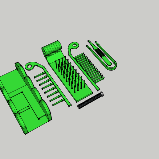 Peigne SDB 1.png Download STL file Comb / Brush Multifunction - Multifuction Comb / Brush • 3D printable template, 3ID