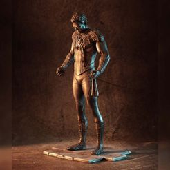 """1000X1000-spiderman-grief.jpg Download free STL file """"Grief"""" - A Spider-Man statue (fan art) • Template to 3D print, eastman"""