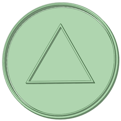 Triangulo_e.png Download STL file Squid triangle 80mm cookie cutter • 3D printable design, osval74