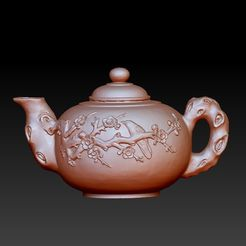 ChineseTeapot1.jpg Download free STL file Chinese teapot • 3D printer object, stlfilesfree