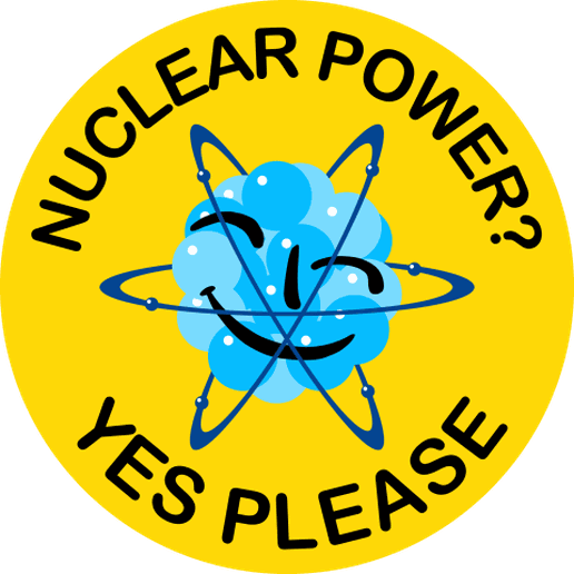 Nuclear-20Power-20Yes-20Please-20-2000x2000.png Download 3MF file Nuclear power - Free energy logo • 3D printable template, Lammesky_Designs