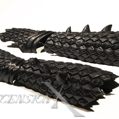 brcer_dragon_MPier_WM.png Download STL file Dragon bracers for cosplay and larp • Design to 3D print, AscensionX
