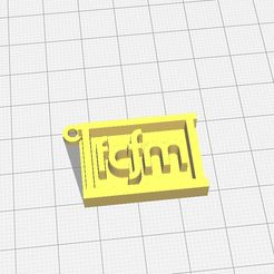fcfm.jpg Download free STL file Key ring FCFM Universidad de Chile • Design to 3D print, RoboteamChile
