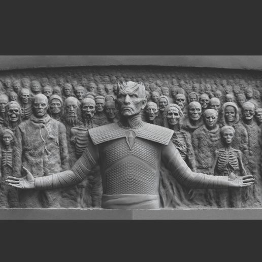 ZBrush D77ocument.jpg Download STL file Game of Thrones - Night King - Hardhome Relief • 3D printing model, brkhy