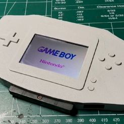 54a12cd5c5edb2f43ccf6220d40f3bad_display_large.jpg Télécharger fichier STL gratuit GameBoy Advance Lite • Design pour impression 3D, indigo4