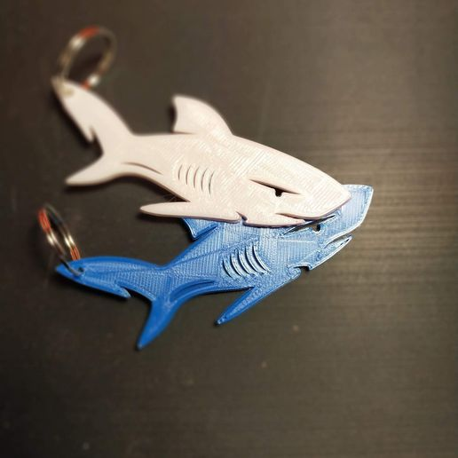 IMG20210502204148.jpg Download free STL file Porta Chiavi, keychain Shark • 3D printable model, XSO3D
