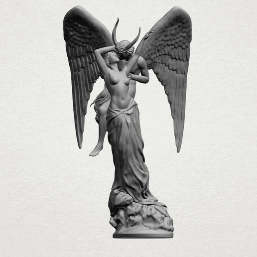 Angel and devil - A02.png Download free 3DS file Ángel y diablo • 3D printable object, GeorgesNikkei