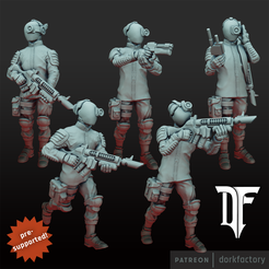 anomaly_hunters_presupported.png Download STL file Anomaly Hunters • 3D printing design, dorkfactory