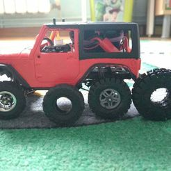 IMG_20200128_122522.jpg Download free STL file Orlandoo Hunter rim and 3 tires 1/35 scale / Wheel and 3 tires • 3D printable object, calistoellisto