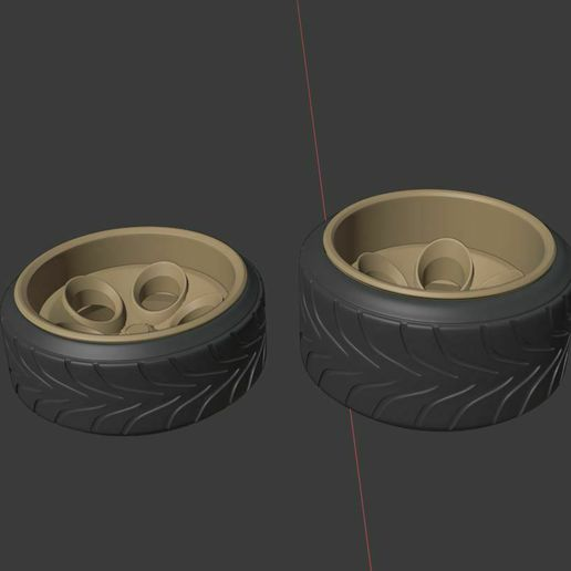 q2.JPG Download STL file Supercar 2 Style Wheels: Front and Rear Set • 3D printer object, BlackBox