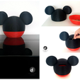 mix.png Download free STL file Mickey Mouse Money Box • 3D printing template, bbakari