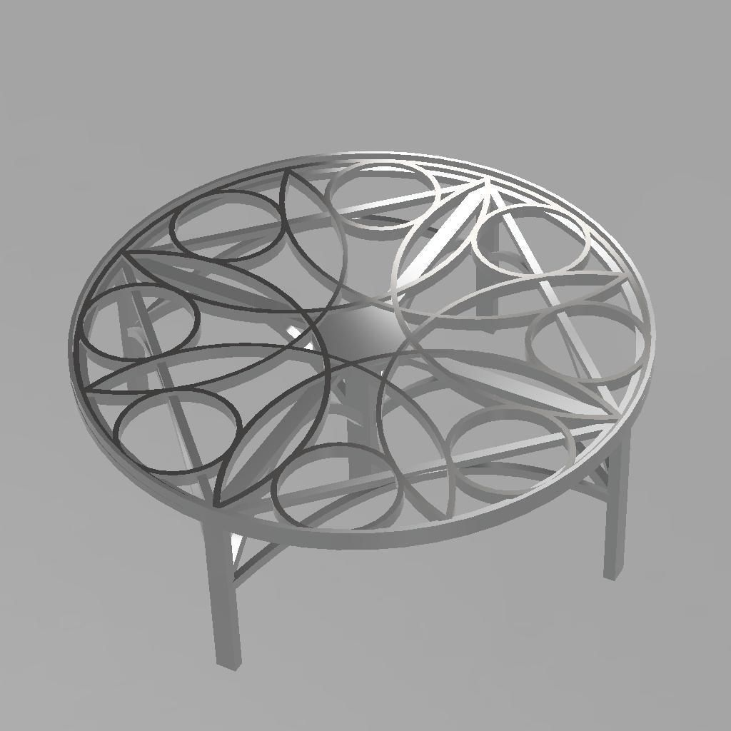table rosace v3.jpg Download free STL file table rosace • 3D printing object, remus59