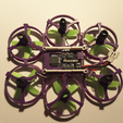 Capture d'écran 2017-02-20 à 11.20.30.png Download free STL file Hexantrix 80mm: Tiny Whoop Hexa based on spf3 brushed • 3D print object, Microdure