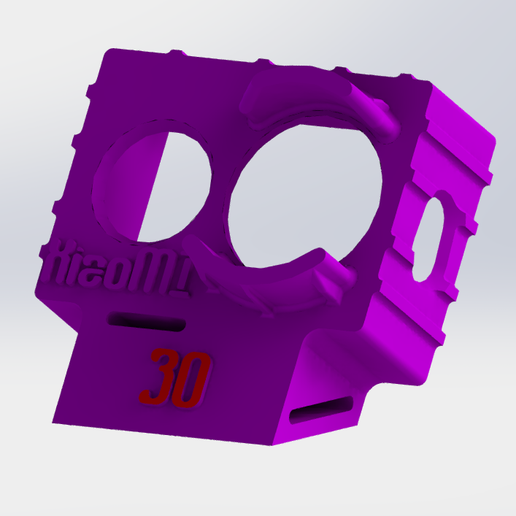 XiaoMI_Yi_3D_Printed_Wedge_Case__30_.PNG Download STL file XiaoMI Yi Wedge Case (30deg) • 3D printing object, BBRC