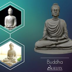 01.jpg Download OBJ file Buddha 3D sculpture 3D print model • 3D printing design, selfix