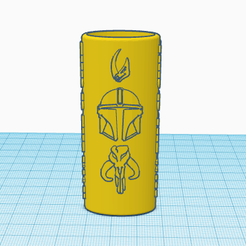 MandoLighter1.png Download OBJ file Mandalorian Bic Lighter Case • 3D printer template, 3dprintsplus