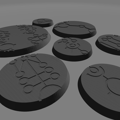 Necron_bases_2.png Download file Space Zombie Bases • 3D printing template, nocowargamer