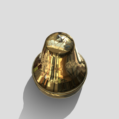 b1.png Download 3DS file Christmas Bell • 3D printer design, SimonTGriffiths