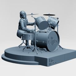 1.jpg Download STL file Ringo Starr, the Beatles, rooftop concert • 3D print object, ronnie_yonk