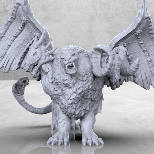 Chimera_1.png Download free STL file Chimera - Tabletop Miniature • 3D printing design, M3DM