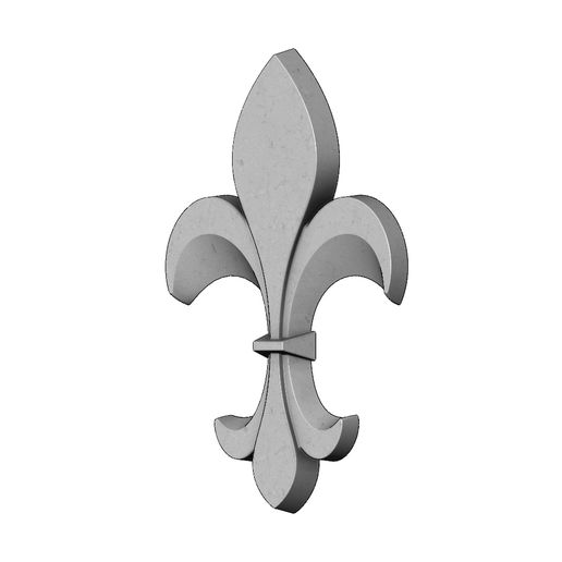 lys-V01-05.JPG Download 3MF file Heraldic lily onlay 3D relief 3D print mod • Model to 3D print, RachidSW