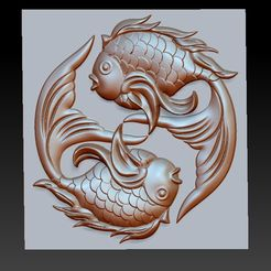 twoFish1.jpg Download free OBJ file cute fish • 3D printer template, stlfilesfree