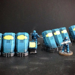 CPS.png Download free STL file Cryo-Pods (15mm scale) • Design to 3D print, Dutchmogul