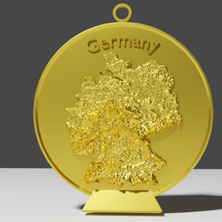 germany3.png Download STL file Germany Relief Map Decoration • 3D printer object, Random_but_Quality