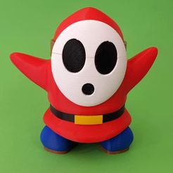 4efdd2f969559e8b1c92e99f32ded48e_preview_featured.jpg Download free STL file Shy Guy from Mario games - Multi-color • 3D print template, bpitanga