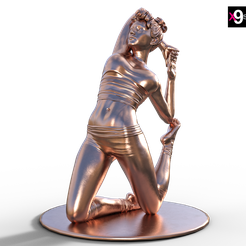Yoga-pose-One-Legged-King-Pigeon-Pose.png Download STL file Yoga pose One-Legged King Pigeon Pose • 3D printable design, x9st0y