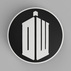 BMW_Doctor_Who_Logo_Front_82mm_1.png Download free STL file hood / trunk logo Doctor Who 82mm / 74mm for BMW vehicles • 3D printing design, DaGoN