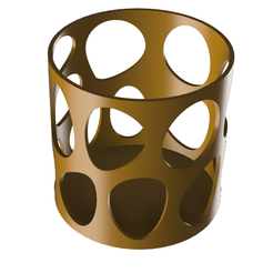 pen holder 2.png Download STL file voronoi Pen holder  • 3D print design, venutalupula