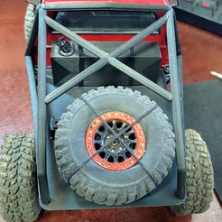 20210624_142950_HDR.jpg Download STL file Custom Flatbed with Roll Bar for WPL C24 & C14 • 3D printer object, thesubarujunkie