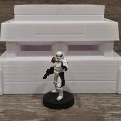 front.jpg Download free STL file Star Wars Legion scale Bunker • 3D printing template, Bountyhunterxx5
