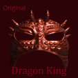 king 1.png Download STL file The Dragon King Mask • 3D printing object, DFB93