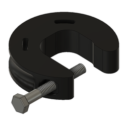 Fusion360_U96IK14Dt0.png Download free STL file Ain't Nothin' But A G Clamp, Baby (34mm throat prototype) • Template to 3D print, HavokTheorem