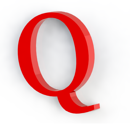Q2.png Download free STL file Letras / abecedario completo • Object to 3D print, Lubal