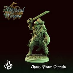 Chaos-Pirate-Captain.jpg Download file Chaos Pirate Captain • Model to 3D print, crippledgodfoundry