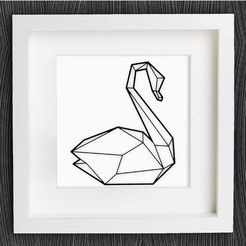 e6fa3c8ed5bd7aeea78df48f68d1f18c_preview_featured.jpg Download free STL file Customizable Origami Swan No. 2 • 3D print model, MightyNozzle