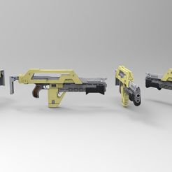 render 1.jpg Download STL file M41A Press Aliens Rifle • 3D printer design, ericpr23