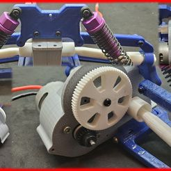 프레젠테이션1.jpg Download free STL file 1/10 Scale RC Buggy (Drivetrain) • 3D printing object, OM3